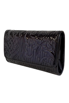 Wild Lilies Jewelry  Embroidered Patent Clutch - Alternate List Image