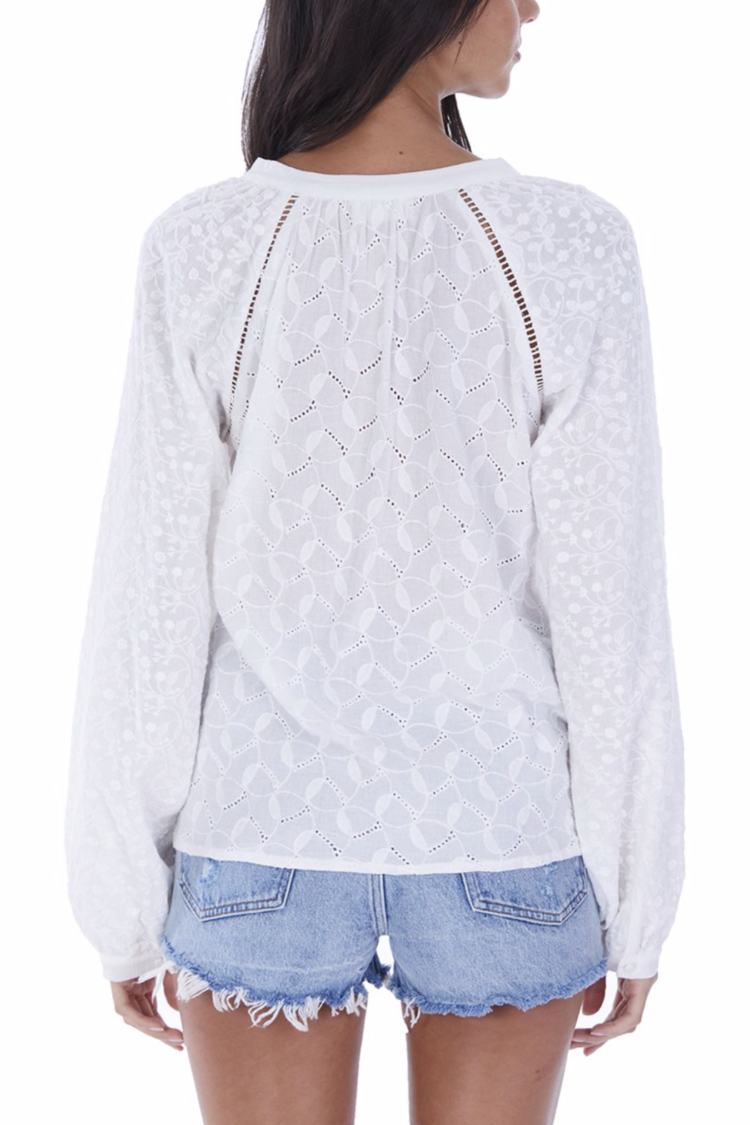 Allison Collection Embroidered Peasannt Blouse - Front Full Image