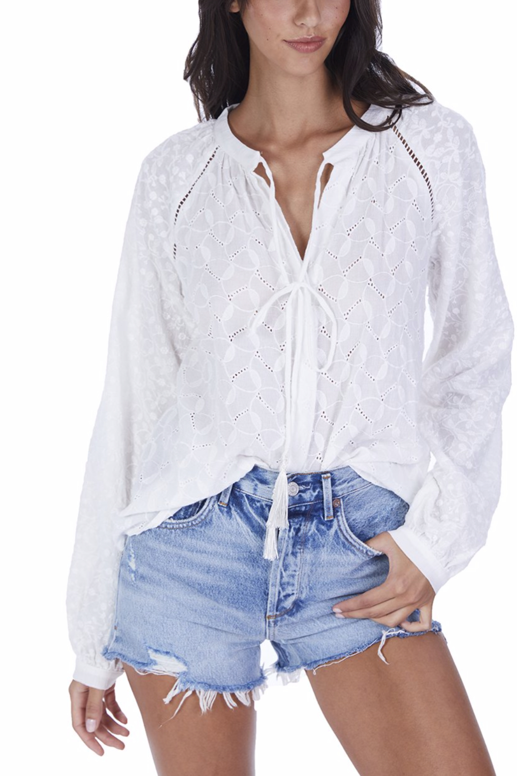 Allison Collection Embroidered Peasannt Blouse - Main Image