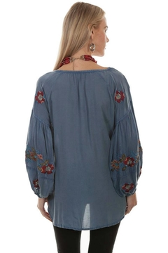 Scully Embroidered Peasant Blouse - Alternate List Image