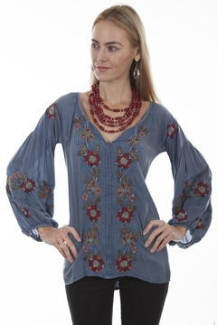 Scully Embroidered Peasant Blouse - Product List Image