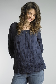 Tempo Paris Embroidered Peasant Blouse - Product Mini Image