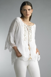 Tempo Paris Embroidered Peasant Top - Product Mini Image