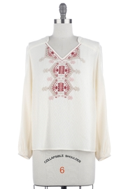 Skies Are Blue Embroidered Peasant Top - Product Mini Image