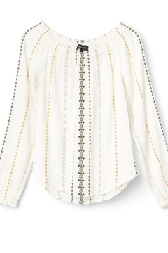 Karen Kane Embroidered Peasant Top, Cream - Alternate List Image