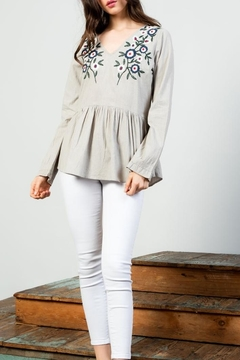 THML Clothing Embroidered Peplum Top - Alternate List Image