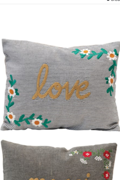 Creative Co-Op Embroidered Pillow - Alternate List Image