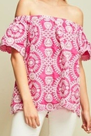 Entro Embroidered Pink Top - Product Mini Image