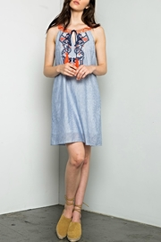 Thml Embroidered Pinstripe Dress - Product Mini Image