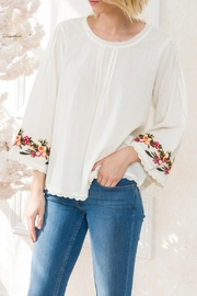 Mystree Embroidered Pintuck - Front cropped