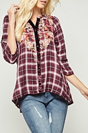 Andree by Unit Embroidered Plaid Blouse - Product Mini Image