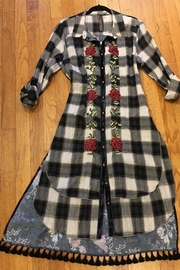 Aratta Embroidered Plaid Duster - Product Mini Image