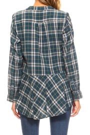 Lola P. Embroidered Plaid Shirt - Back cropped