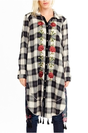 Aratta Embroidered Plaid Tunic - Product Mini Image