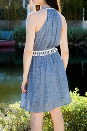 THML Clothing Embroidered Pompom Dress - Front full body