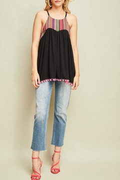 Shoptiques Product: Embroidered Pompom Tank