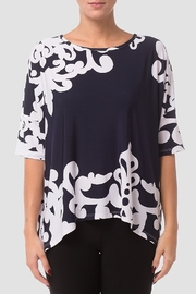 Joseph Ribkoff  Embroidered Print Batwing Top - Product Mini Image