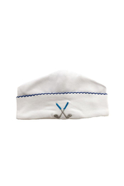SAMMY & NAT Embroidered Receiving Hat - Front cropped