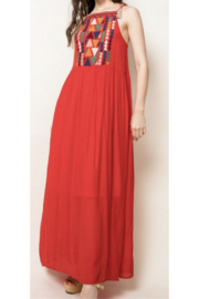 THML Clothing Embroidered Red Maxi - Front cropped