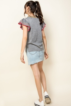 Thml Embroidered Rib Knit Top - Alternate List Image