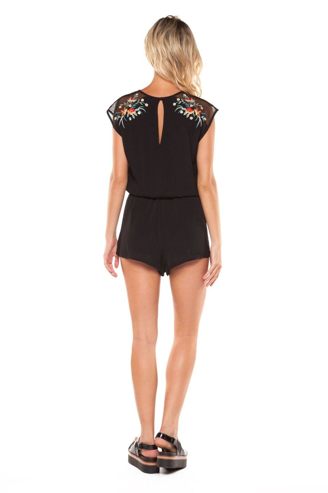 Dex Embroidered Romper - Front Full Image