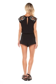 Dex Embroidered Romper - Front full body