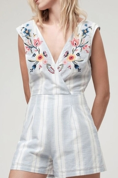 Blu Pepper Embroidered Romper - Product List Image