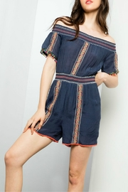 Thml Embroidered Romper off shoulder - Product Mini Image