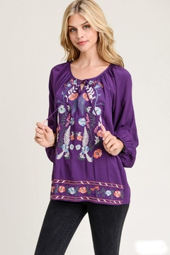 Shoptiques Product: Embroidered Royal Purple
