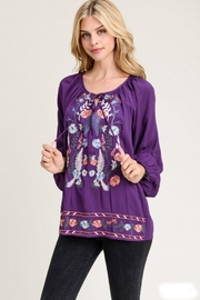 The Dressing Room Embroidered Royal Purple - Product Mini Image