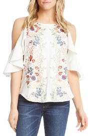 Karen Kane Embroidered Ruffle Sleeve - Product Mini Image