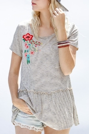 My Story Embroidered Ruffle Top - Front cropped