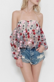 L'atiste Embroidered Sheer Crop - Product Mini Image