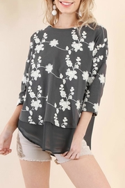 Umgee USA Embroidered Sheer-Detail Top - Product Mini Image
