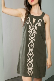 THML Clothing Embroidered Shift Dress - Front cropped
