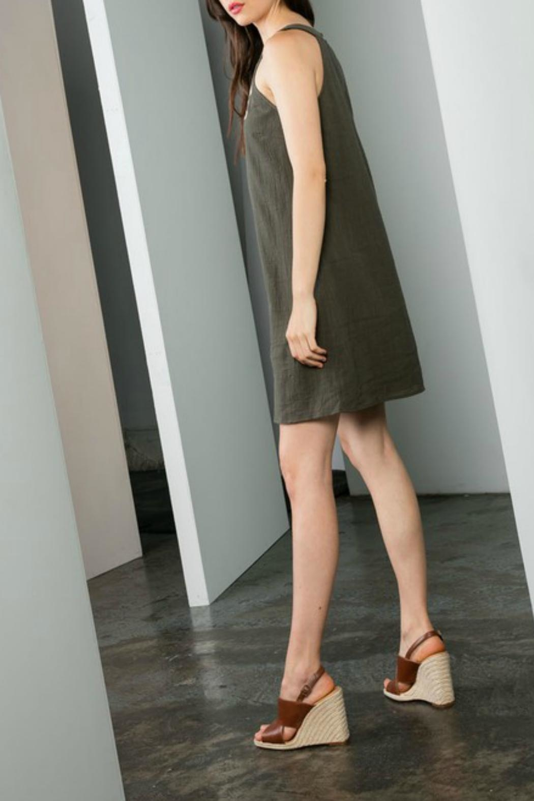 THML Clothing Embroidered Shift Dress - Front Full Image