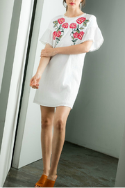 THML  Embroidered Shift Dress - Front full body