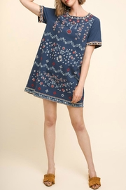 Umgee USA Embroidered Shift Dress - Product Mini Image