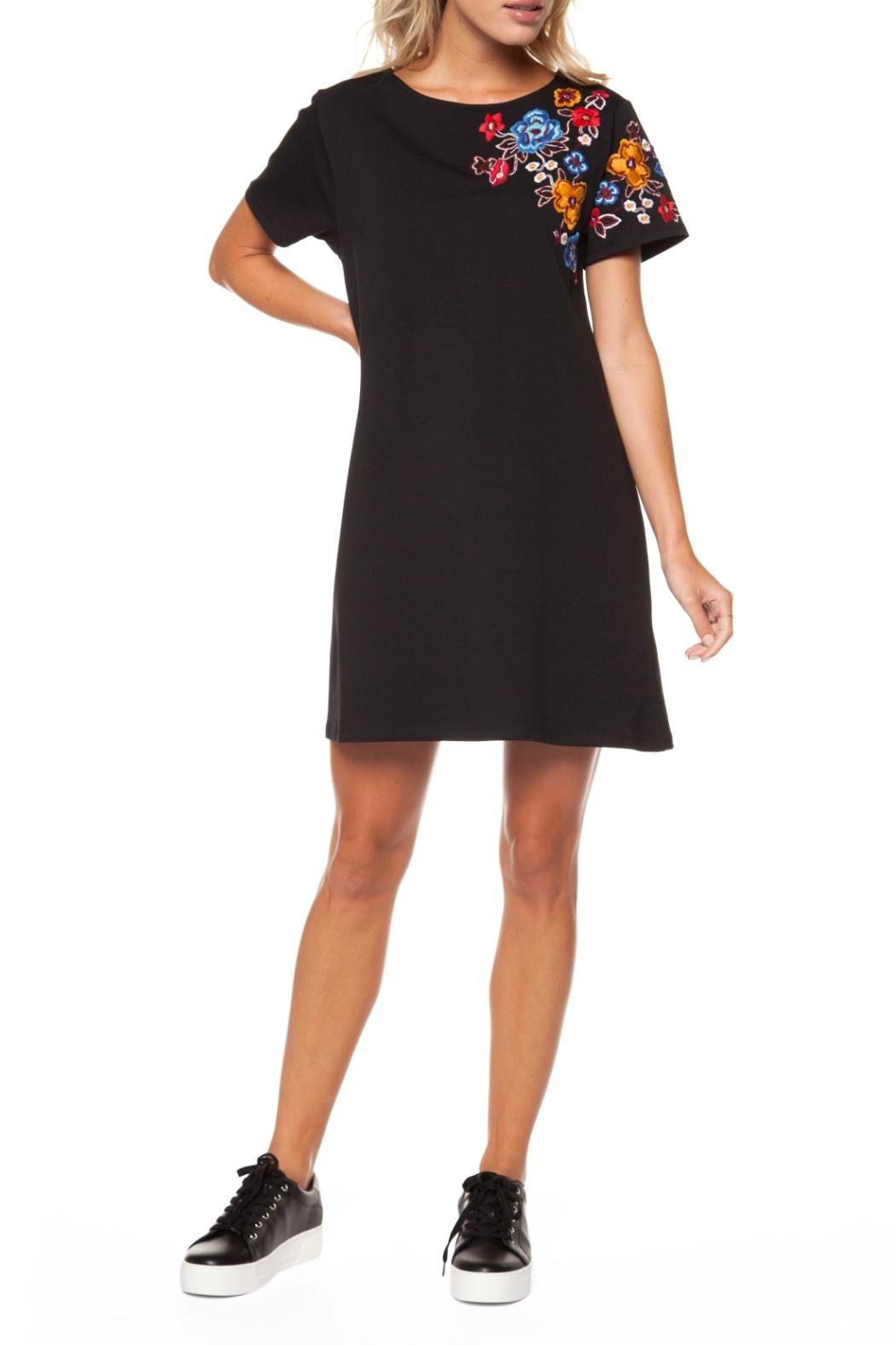 Dex Embroidered Shift Dress - Main Image