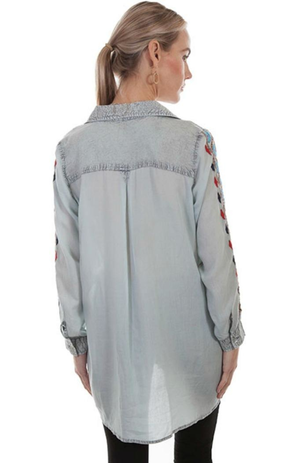 Scully Embroidered Shirt - Side Cropped Image