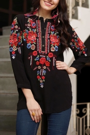 Avani del Amour Embroidered Shirt Top - Product Mini Image