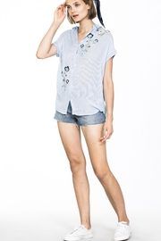 En Creme Embroidered Short Sleeve - Front full body