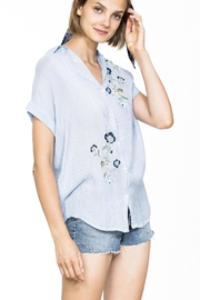 En Creme Embroidered Short Sleeve - Product Mini Image