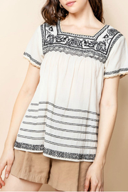 Thml Embroidered Short Sleeve Top - Product Mini Image