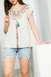 Thml Embroidered Short Sleeve - Product Mini Image