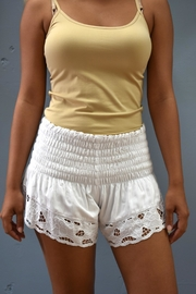 Angels by the Sea Embroidered Shorts - Product Mini Image