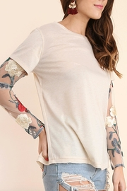 Umgee USA Embroidered Sleeve Tee - Product Mini Image
