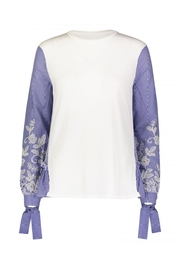 Yal NY Embroidered Sleeve Top - Product Mini Image