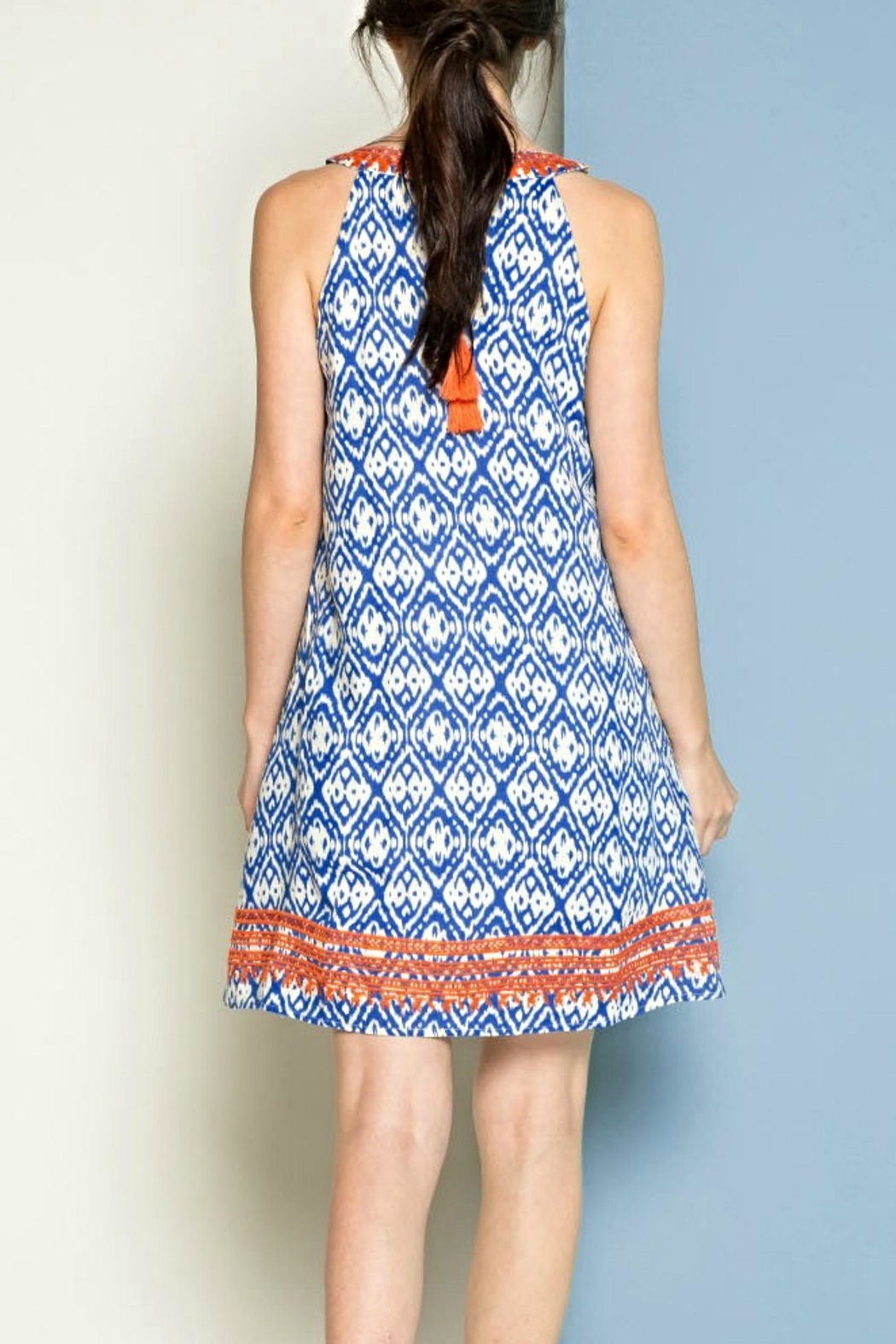THML Clothing Embroidered Sleeveless Dress - Front Full Image