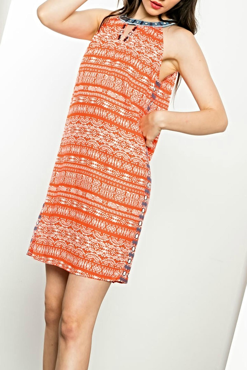 THML Clothing Embroidered Sleeveless Dress - Main Image